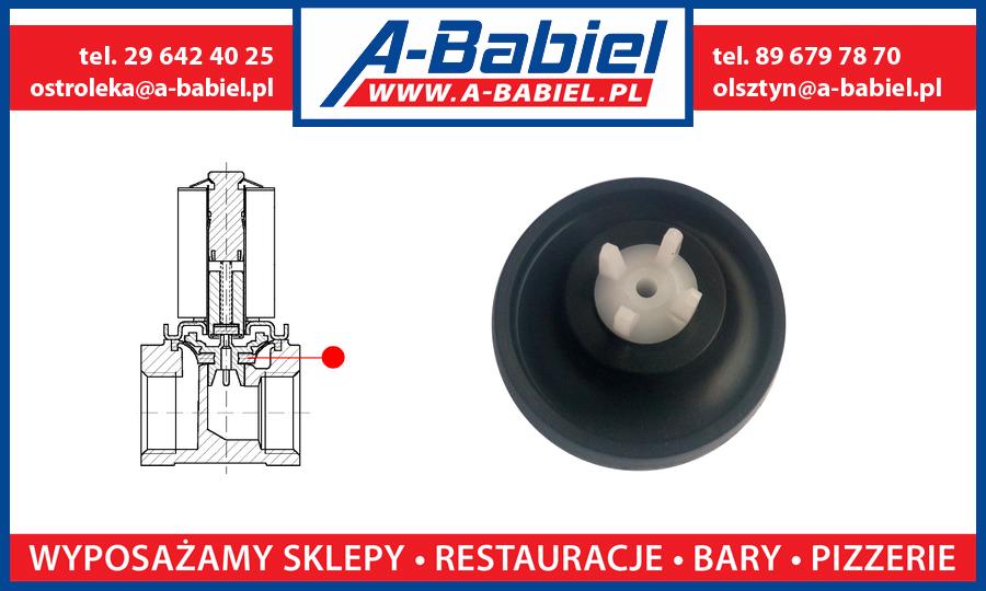 A-Babiel - Membrana do elektrozaworu Sirai, zaworu wody zmywarki Lozamet z cewka Sirai Z610A Olsztyn, Ostrołęka